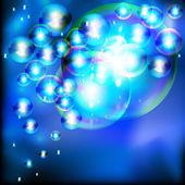 Abstracte achtergrond met fonkelende zeepbellen. — Stockvector