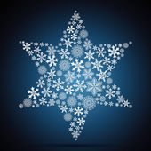 Christmas star, snowflake design background. — Stock Vector