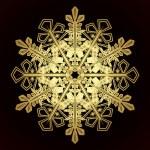 Card with christmas snowflake — Stock Vector