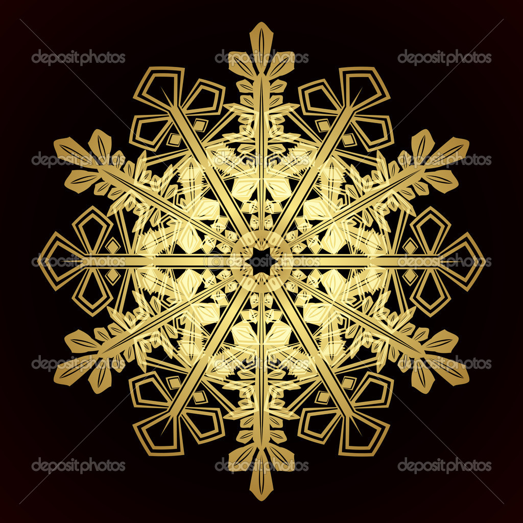 Card with christmas snowflake, vector illustration — Stock Vector #13271885