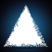 Christmas tree, snowflake design background. — Stock Vector