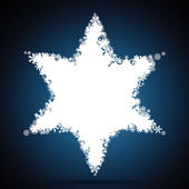 Christmas star, snowflake design background. — Vector de stock