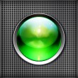 Royalty-Free Stock Vector Image: Techno background with glossy button. Metal banner