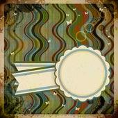 Abstracte retro achtergrond met ronde label. — Stockvector