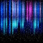 Striped spotlights background. — Stock Vector