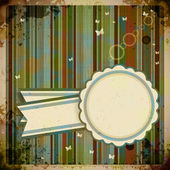 Abstract Retro Background with round label. — Cтоковый вектор