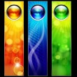 Abstract color banners for your design. — Vektorgrafik
