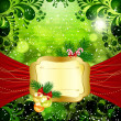 Christmas bright background with place for text. — Vektorgrafik