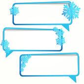 Vintern klistermärke i form av en tom ram för din text. — Stockvektor