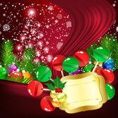 Christmas background illustration — Stock Vector