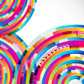 Abstract digital circles background — Stock Vector