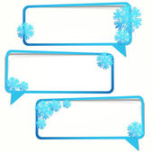 Winter sticker in the form of an empty frame for your text. — Stock Vector