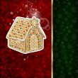 Background with Christmas decoration and snowflakes - Vektorgrafik