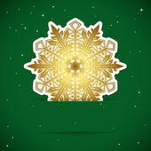 Noel arka plan. kar tanesi bir yuvasına takılı — Stok Vektör