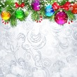 Christmas background with Christmas tree branches — Image vectorielle