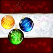 Royalty-Free Stock Vector Image: Background with Christmas balls. illustration