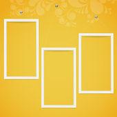 Bílý rámeček na barevné zdi. — Stock vektor