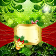 Christmas bright background with place for text. — Stock Vector