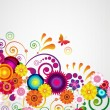 Gift card. Floral design background. — 图库矢量图片
