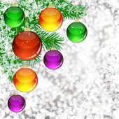 Background with Christmas balls. — Stock Vector