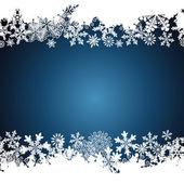 Christmas border, snowflake design background. — Stock Vector