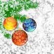 Background with Christmas balls. — 图库矢量图片
