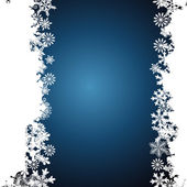 Christmas border, snowflake design background. — Stock Vector