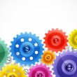 Royalty-Free Stock Vector Image: Techno background with colorful gears.