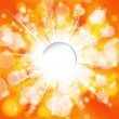 Sunny background. Vector. — Stock Vector