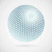 Abstract sphere of hexagons. vector background — Stock Vector