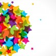 Colorful star background. - Stock vektor