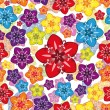 Royalty-Free Stock Vector Image: Vector seamless floral wallpaper.
