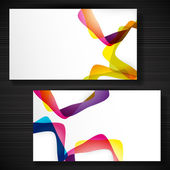 Abstract business-card with forms of empty frames for your card — Stock Vector