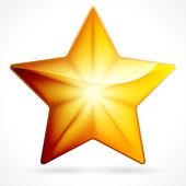 Golden star icon on white background, eps 10 — Stock Vector