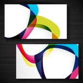 Tarjeta de visita abstracto con formas de marcos vacíos para su tarjeta — Vector de stock