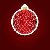 Christmas background. Sticker ball. Vector illustration. — Stock Vector