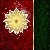фон с рождественские украшения и снежинки, illustratio — Cтоковый вектор