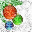 Background with Christmas balls. vector illustration — Stok Vektör