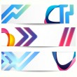 Abstract banner with forms of empty frames for your web design. — Stock Vector #22551153