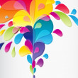 Colorful background with drops, vector - Image vectorielle