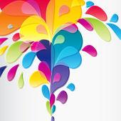 多彩背景与滴,矢量 — 图库矢量图片