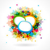Colorful star background. — 图库矢量图片