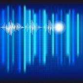 ECG Electrocardiogram medical blue background. — Stock Vector