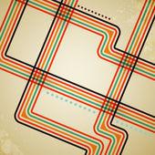 抽象矢量复古线条背景 — 图库矢量图片
