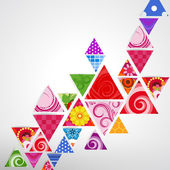 Abstract ornamental triangle background — Stock Vector