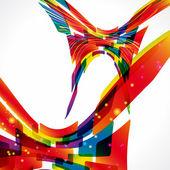 Sfondo luminoso astratto multicolor. elementi di design. eps1 — Vettoriale Stock
