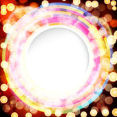 Abstract digital background with a round space for your text. — Stock Vector