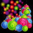 Vector Christmas Background with balls. — Stock vektor