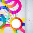 Abstract background with vector design elements. — ベクター素材ストック