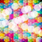 Abstract mosaic background made of colorful circles. Vector Illu — Stock Vector